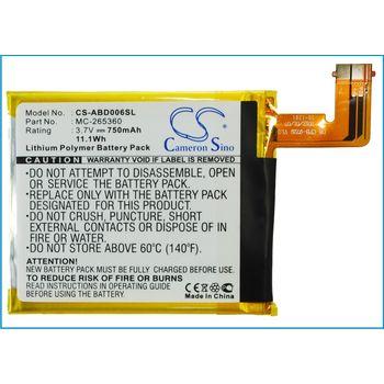 Baterie pro Amazon Kindle 4/4G/5/6, 750mAh