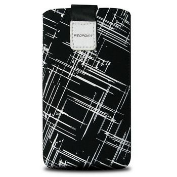 Fixed pouzdro Velvet s motivem White Stripes, velikost XXL, bílá