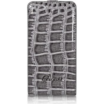 Guess Crocodile Flip pouzdro Sam. Galaxy S II, šedé