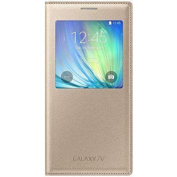 Samsung flipové pouzdro S-View EF-CA700BF pro Galaxy A7, zlaté