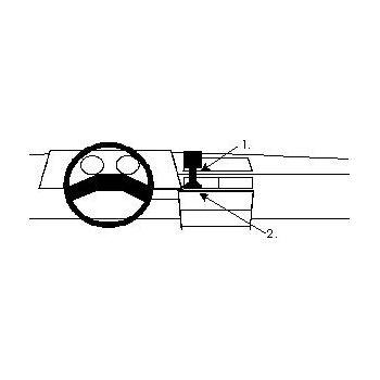 Brodit ProClip montážní konzole pro Ford Escort 84-85, na střed