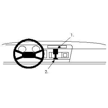 Brodit ProClip montážní konzole pro Opel Corsa 84-92, na střed