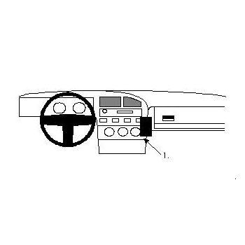 Brodit ProClip montážní konzole pro VW Corrado 89-93, Passat 88-93, na střed