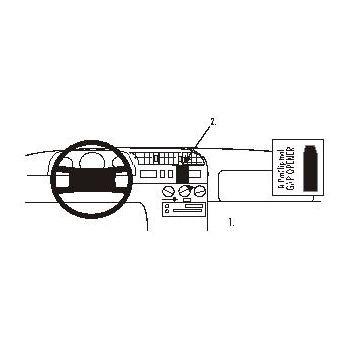 Brodit ProClip montážní konzole pro Citroen Jumper, Fiat Ducato, Peugeot Boxer 95-01, na střed
