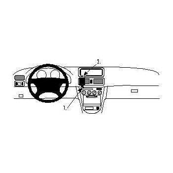Brodit ProClip montážní konzole pro Toyota Corolla 98-99, na střed vlevo