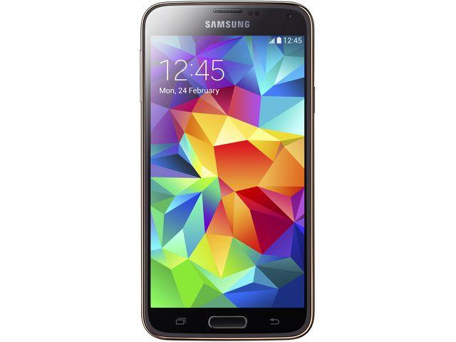 obsah balení Samsung GALAXY S5 G900 Copper Gold + ochranné sklo VMAX na displej