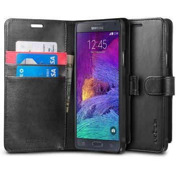 Spigen flipové pouzdro Wallet S pro Samsung Galaxy Note 4, černá