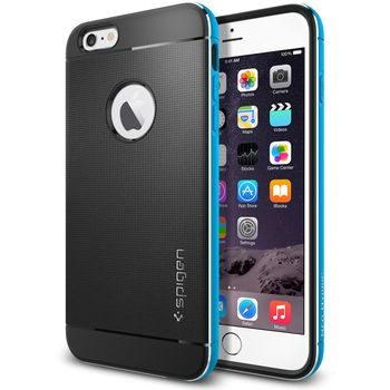 Spigen pouzdro Neo Hybrid Metal pro Apple iPhone 6 Plus, modrá