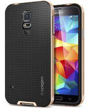 Spigen pevné pouzdro Neo Hybrid Copper gold pro Samsung Galaxy S5, zlatá