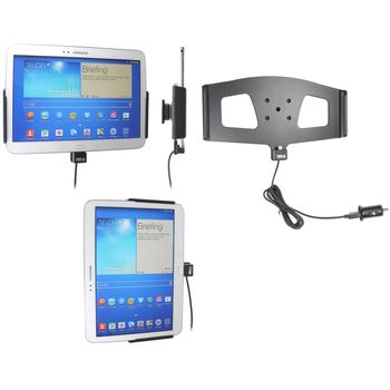 Brodit držák do auta na Samsung Galaxy Tab 3 10.1. bez pouzdra s nabíjením z cig. zapal./USB