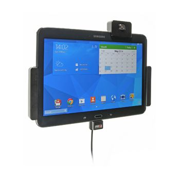 Brodit držák do auta na Samsung Galaxy Tab 4 10.1 bez pouzdra, se skrytým nabíjením, zámek