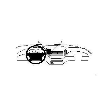 Brodit ProClip montážní konzole pro Toyota Previa 90-00, na střed