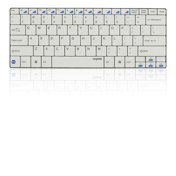 Rapoo Bluetooth klávesnice Ultra-slim E6100, bílá