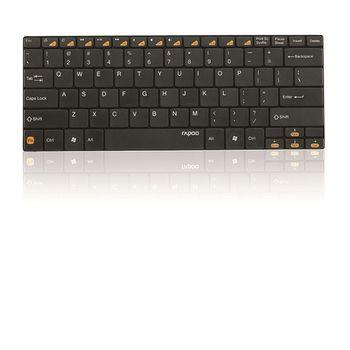 Rapoo Bluetooth klávesnice Ultra-slim E6100, černá
