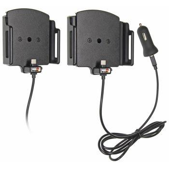 Brodit držák do auta nastavitelný s USB-C a nabíjením z cig. zapalovače/USB š. 75-89 mm, tl. 9-13