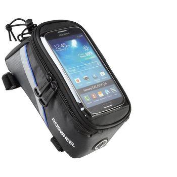 Roswheel brašna na mobilní telefon na rám, vel.M modrý pruh