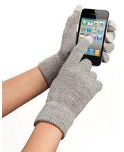 Zimní kapacitní rukavice pro Samsung, iPhone, iPad, Sony, HTC - šedá