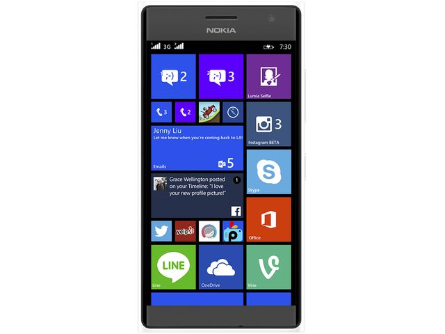obsah balení NOKIA Lumia 735 bílá